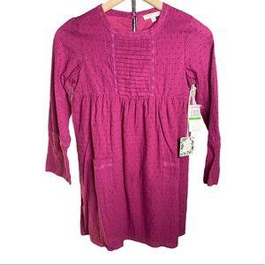 Chelse & Violet Girls Garnet Dot Peasant Dress